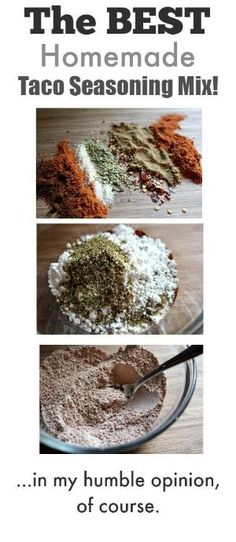 How to make your own homemade taco seasoning mix! This way is way tastier than using those little packets and so much better for you too! by hilda
