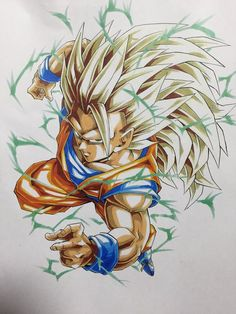 Browse Dragon Ball Z collected by Rai and make your own Anime album. Dragon Ball Z, Dbz Drawings, Z Warriors, Ssj3, Ball Drawing, Z Arts, Fan Art, King Kong, Anime Art