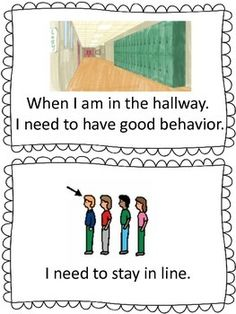 Autism Social Story-Hallway Procedures