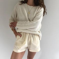 Vintage 90s cream cotton waffled sweater. Beautiful textile & drape, favorite find. Minor distressing. Size s-l $62 + shipping SOLD