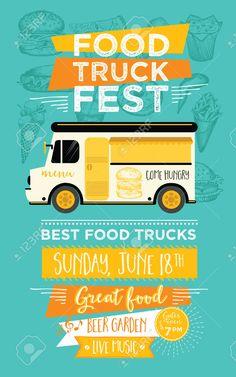 Resultado de imagen de food truck folleto