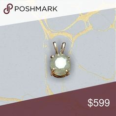 🐺Huge 1.36ct silv/white diamond pendant rose plt Natural untreated silver white included translucent I2 diamond set in rose gold plated sterling silver pendant. Nwt. Perfect deep round cut. Great gift idea! 1.36ct. natural gem Jewelry Necklaces