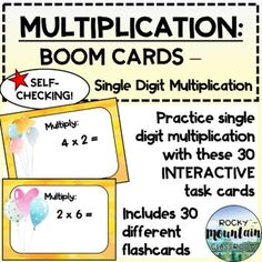 This digital product includes:Instructions for teachers on to set up a Boom account & assign decks to students30 self-checking cards which will be added to your library on www.boomlearning.com when the link is appliedWHAT ARE BOOM CARDS?Boom cards are digital task cards that you play on the Boom... Data Tracking, Multiplication, Task Cards, Decks, Accounting, Self, Classroom, Teacher, Student