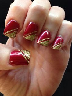 Simple Christmas Nail Designs : Nails Art Design