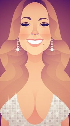 Mariah for Variety magazine by Stanley Chow Stanley Chow, Figure Sketching, Celebrity Caricatures, Communication Art, Alternative Art, Character Illustration, Graphic Design Inspiration, Art Images, Amazing Art