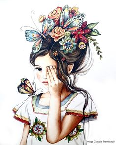 Claudia Tremblay : flowers in her hair