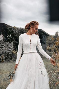 Bridal jacket - wool wedding jacket - wedding warm coat - knitted wedding coat - knitted wedding sweater - bridal coat - wedding cover up Wedding Sweater, Wedding Coat, Wedding Jacket, Fall Wedding Dresses, Bridal Dresses, Women's A Line Dresses, Blush Dresses, Event Dresses, Bridal Cover Up