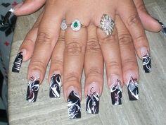 Black & White by readynails - Nail Art Gallery nailartgallery.nailsmag.com by Nails Magazine www.nailsmag.com #nailart