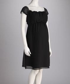 Black Amore Maternity Dress - Women by Nicole Maternity on #zulily