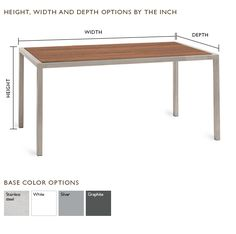 Montego Outdoor Table by the Inch - Outdoor Tables by the Inch - Custom - Room & Board