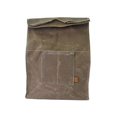 Waxed Canvas Lunch Bag, Tumbleweed // whitesmercantile.com