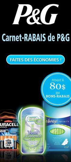 Carnet-rabais de 80 $ de P  http://rienquedugratuit.ca/coupons/carnet-rabais-de-80-de-pg/