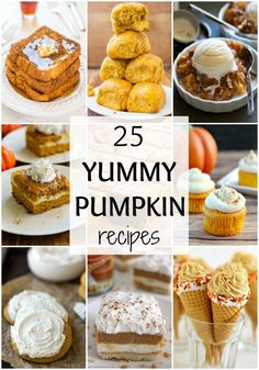 25 Pumpkin Recipes that you need to try this fall! From french toast to cupcakes, there is a pumpkin recipe for everyone! http://ablissfulnest.com/ #pumpkin #recipes #fall