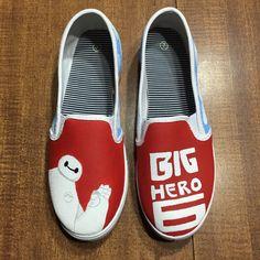f6437ec7e8 Big Hero 6 Hand Painted Canvas Shoes (Generic Brand or Authentic Vans) by  ShoesAreMyCanvas