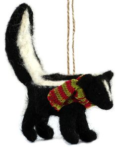 Felt Skunk Ornament