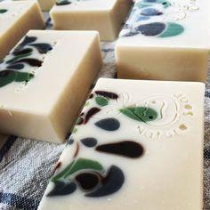 handmade soap by @rie0109rie, drop swirls
