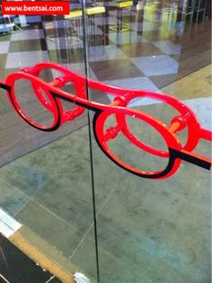 Door Handle in the shape of a Spectacle   Shared withDesign Association of Singapore&Nanyang Optical&Spectacle Hut&Sunglass Hut Ideas Retail Singapore Spectacles