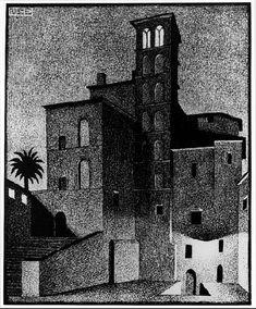Marcuku — jamesdeaner: James Dean and Elizabeth Taylor on. Mc Escher, Escher Art, Sgraffito, Mathematical Drawing, Illusion, Dutch Artists, Art Database, Weird World, Linocut Prints