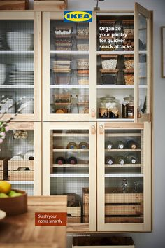 You should always know where your favorite snack is – along with everything else in your pantry. Find storage solutions so you can tidy up your snacks, staples and other food items.