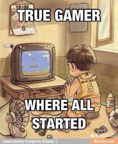E você, também começou por aí?!   #Game #nerd #geek