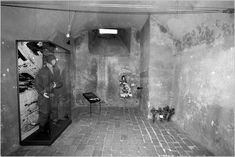 Inside view of the crypt showing the ventilation shaft, the site is now a museum - memorial