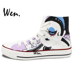 804ca78ba394 Aliexpress.com   Buy Wen Original Design Custom Hand Painted Shoes Floral  Exaggerated Cartoon Girl