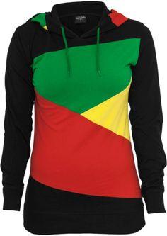 Reggae Ladies Zig Zag Jersey #reggae #rasta #fashion http://www.rudestylz.de/reggae+ladies+hoody.htm