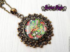 Купить Кулоны с изображением под стеклом - разноцветный, кулон, кулон на цепочке, кулоны, сова