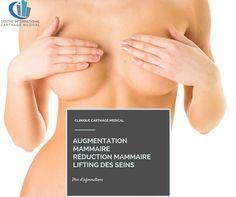 Chirurgie esthetique seins tunisie, il existe plusieurs types de procédures telles que: L'augmentation mammaire, Réduction mammaire, Lifting des seins