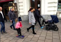 Crown Princess Victoria, her husband Prince Daniel and their children Princess Estelle and Prince Oscar of Sweden were seen in the city center of Stockholm on January 1 while they were walking.