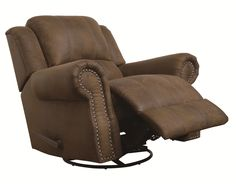 Sir Rawlinson Rocker Recliner with Swivel by Coaster