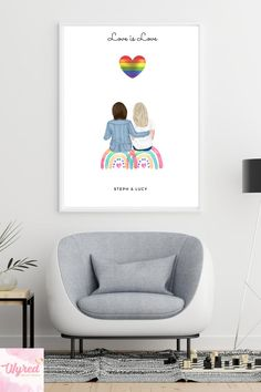 #pride #lgtbiq #giftsforher #etsy #gay #gaypride #giftideas #gift Personalized Best Friend Gifts, Customized Gifts, Presents For Men, Pretty Designs, Christmas Gifts For Women, Birthday Gifts For Her, Custom Wall, Couple Gifts, Mother Gifts