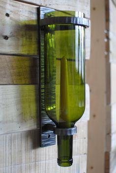 Applique de bouteille de vin main forgé bougeoir bougie