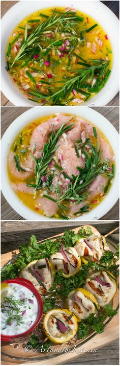 Lemon Herb Chicken Kebabs - perfect for grilling. Great summertime flavours of lemon and fresh herbs.
