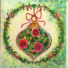 WEBSTA @ moongeemg - #johannaschristmas #softpastels #softpastel #prismacolor #colorpencil #colorpencils #christmastree #johannabasfordchristmas