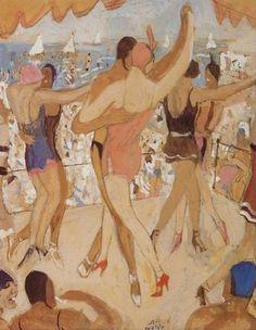 Alfons Walde - Die Tanzenden Art Nouveau, Art Deco, Vintage Posters, Illustrators, Cool Art, Art Prints, Image, Dancers, Figurative
