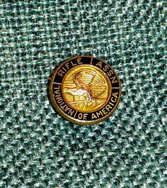 Vintage NRA National Rifle Assn Medal Lapel Pin Screw Back Gold Filled Leavens $8