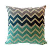 Free Shipping. Buy Chevron Stripe Cotton Linen Square Shaped Decorative Pillow Cover Pillowcase Pillowslip 43*43cm at Walmart.com