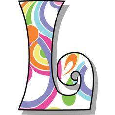 SGBlogosfera. María José Argüeso: HIPPIE Alphabet Templates, Alphabet Art, Alphabet And Numbers, Scrapbook Letters, Painted Initials, New Project Ideas, Origami Paper Art, Bubble Letters, Letter L