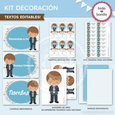 Comunión Niño Celeste: Kit decoración