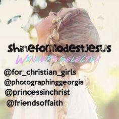 4 winners selected for @shineformodestjesus