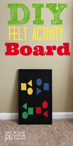 Make a DIY #Felt Activity Board, perfect for simple sorting activities or story play with your preschooler! #homeschool #learning #toddler #feltboard