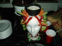 Veggie Head Halloween Party Idea