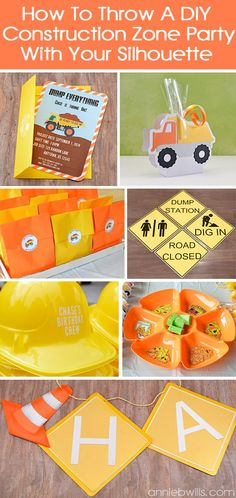 How to Throw a DIY Construction Zone Party With Your Silhouette CAMEO