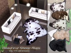 Beautiful Sheep Rugs by Pralinesims - Sims 3 Downloads CC Caboodle