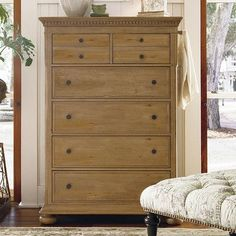 Paula Deen Home Down Home 6 Drawer Chest Finish: Distressed Oatmeal
