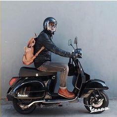 Ninja Black Vespa PX, ride with style Vespa Motorbike, Scooters Vespa, Motor Scooters, Moto Bike, Mobility Scooters, Girl Motorcycle, Motorcycle Quotes, Piaggio Vespa, Vespa Lambretta
