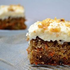 Carrot Cake Cream Cheese Frosting This is my hubby's favorite and I make it for his bday every year.  I add a little more than 2 cups of carrots and when I drain the pineapple juice I add it back into the cream cheese frosting at the end.