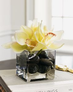 These faux orchids can be used anywhere.