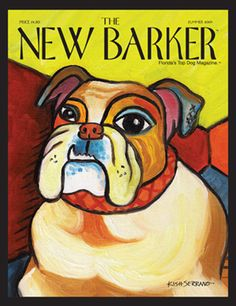 PAWCASSO BULLDOG by GRETCHEN KISH-SERRANO #bulldog #cover #magazine #magazinecover #art